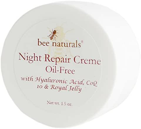 BEST Night Repair Oil Free Cream - Advanced Skin Moisturizer - Fast Absorbing - Formulated with Royal Jelly, Hyaluronic Acid and Triglycerides - Visible Results - Healthy Radiant Skin