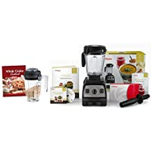 Vitamix CIA Professional Series 300 Onyx Blender With Wet Container, Dry Grains Container, and 2 Cookbooks by Vitamix
