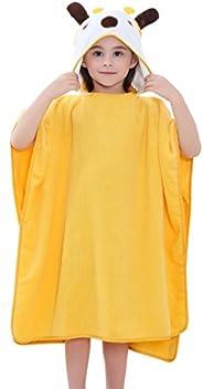 """MICHLEY Cotton Hooded Beach Bath Pool Poncho Towel 27.5""""X 27.5"""", Baby Girls Boys Cartoon Soft Bathro"""