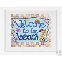 Welcome to the Beach - Framed Art Print