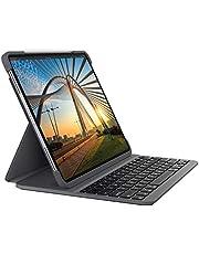 جراب لوحة مفاتيح بتقنية البلوتوث المجسم بتقنية البلوتوث من لوجيتك؛ مخصص لأجهزة آيباد برو 11 بوصة (الجيل الأول والثاني) - لون رمادي