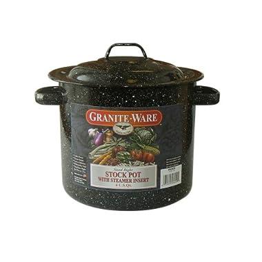 Granite Ware 6209-4 4-Quart Stockpot with Steamer Insert