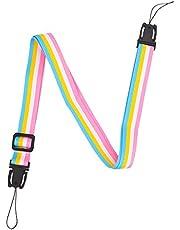 Sunmns Camera Neck Shoulder Strap Compatible with Fujifilm Instax Mini 11/9/ 8/90/ 8+/ 7s Instant Film Camera, Rainbow