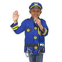 Melissa & Doug Police Officer Role Play Costume Dress-Up Set (8 pcs)