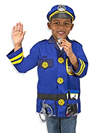 Melissa & Doug Police Officer Role Play Costume Dress-Up Set (8 pcs)