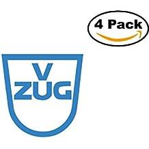 V Zug 4 Stickers 4X4 inches Car Bumper Window Sticker Decal