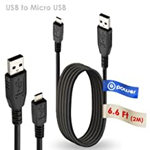 T-Power (TM) ( 6.6 ft ) Micro-USB to USB Cable for Barnes & Noble Nook Wi-fi Digital the Simple Touch Reader /Kobo VOX Digital Ereader, Kobo Arc, Wacom Bamboo CTH470, CTH670, CTL471 Tab Charging Cord