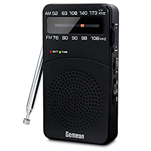 携帯ラジオ 高感度 am/fmポータブルラジオ 小型ラジオ 電池式 バッテリー交換可能