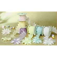 Pull Bow Coccarde Jordan Almonds Holder Ribbon Confetti Flowers 10 yards (ivory)