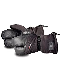 SnowForce Extreme Cold 3-Finger Winter Mitt with Premium Cowgrain Palm