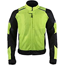 Pilot Motosport Men's Visto Air Jacket (Hi-Vis, X-Large)