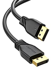 8K DisplayPort Cable 10ft - SOOMFON DP 1.4 Cable, 8K@60Hz, 4K@240Hz, Ultra High Speed DisplayPort to DisplayPort Cable for Laptop PC Gaming Monitor