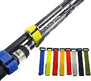10 Pcs Fishing Rod Belts Ties Stretchy Magic Rod Straps Fishing Tackle Ties Cable Fishing Rod Holders Fit for
