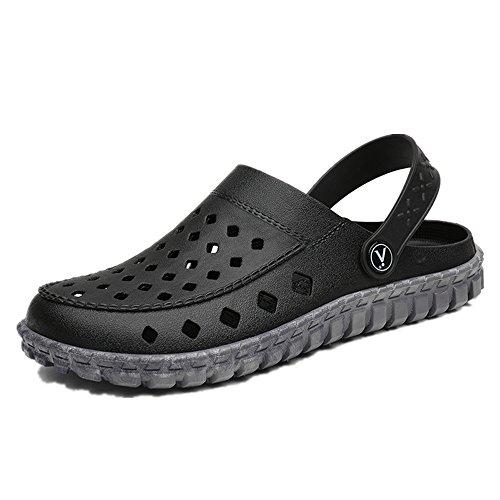 JOYTO Mens Clog and Mules, Garden Lightweight Beach Pool Yard Outdoor Lightweight Garden Fashion Slip on Breathable Sandals Black... B07C246Z4F Shoes 476f71