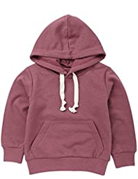 Lollyeca Baby Kid Boy Girl Solid Color Pocket Pullover Hooded Sweatershirt Tops