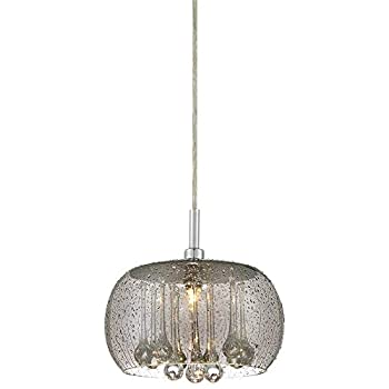 "Possini Euro Rainier 8 3/4"" Wide Smoke Glass Mini Pendant - Possini Euro Design"