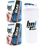 BPI Sports Best BCAA Peptide Linked Branched Chain Amino Energy Powder, 10.58oz, Pack of Two 30 Servings (Watermelon 2 x 30svg) with Official BPI Shaker