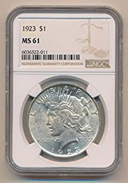 1923 P Peace Dollars MS61 NGC