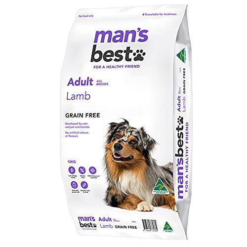 Mans Best Grain Free Adult Dog Food Lamb 12kg