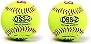 """barnett OSS-2 Practice Softball Ball, Soft Touch, Size 12"""", Yellow, 2 P"""
