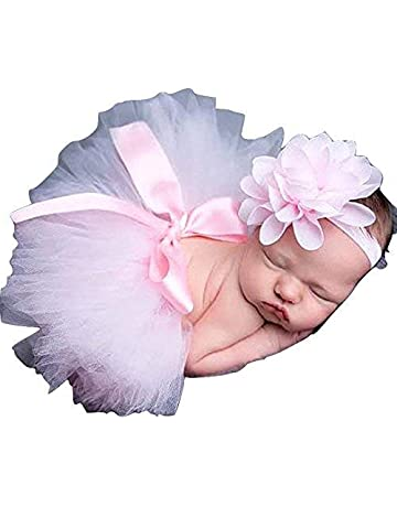 bbcec7e0ec Pink, Newborn Baby Tutu Clothes Skirt Headdress Flower Photo Photography  Prop Outfit. #3