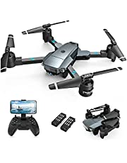 $69 » Snaptaⅰn A15H Foldable Drone with 1080P HD Camera FPV WiFi RC Quadcopter for Beginners, Optical Flow Positioning, Voice Control, Gesture Control, Trajectory Flight, Circle Fly, G-Sensor