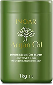 Máscara Capilar Argan Oil Tratamento Intensivo Hidratante 1000 g, Inoar