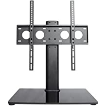 "VIVO Universal Economic LCD Flat Screen TV Table Top Stand w/ Glass Base for 32"" to 55"" T.V. (STAND-TV00J)"