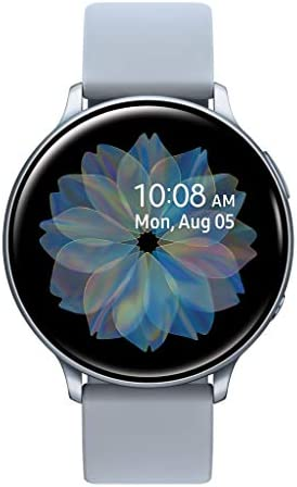 Samsung Galaxy Watch Active 2 (44mm, GPS, Bluetooth) Smart Watch with Advanced Health monitoring, Fitness Tracking , and Long lasting Battery –  Silver  (US Version)