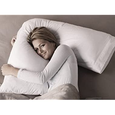 V Boomerang Shaped- Premium Neck and Back Pillow for Side Sleepers- Includes Zippered Pillowcase Cover - Exclusively by Blowout Bedding RN# 142035