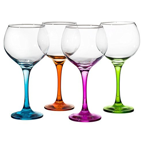 330Y65 Gin glasses – set of 4, assorted colours.