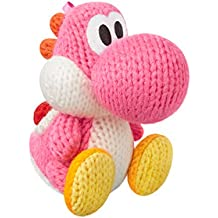 Pink Yarn Yoshi Amiibo (Yoshi's Woolly World Series)