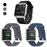 ESeekGo Compatible with Fitbit Blaze Bands, 3 Pack Silicone Band with 1 Pcs
