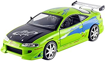 Jada Toys 97603 Fast & Furious 1: 24 Diecast Vehicle - Brian's Mitsubishi Eclipse, Green