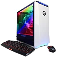 CYBERPOWERPC Gamer Panzer PVX4000LQ Desktop Gaming PC (Intel i9-7900X 3.3GHz, NVIDIA GTX 1080 TI 11GB, 32GB DDR4 RAM, 2TB HDD, 240GB SSD, 802.11AC WiFi, Liquid Cool, Win 10 Home), Black