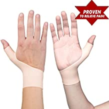 2 Premium Gel Wrist Support Braces for Right & Left Hand | Proven to Relieve Wrist & Thumb Pain Including Arthritis, Rheumatism, Carpal Tunnel, Tenosynovitis | Soft, Comfortable & Light Weight