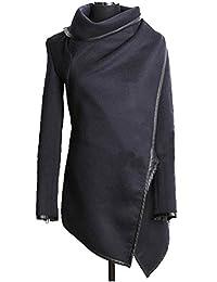 DOKER Women's Fashion Slim Fit Woolen Windproof Trench Coat
