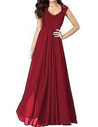 Miusol Women's Casual Deep- V Neck Sleeveless Vintage Maxi Black Dress (3193)