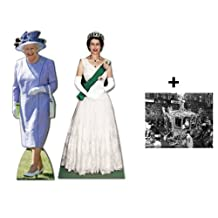 *COMMEMORATIVE DOUBLE PACK* - QUEEN ELIZABETH II (1953 TO 2012) - LIFESIZE CARDBOARD CUTOUT (STANDEE / STANDUP) SET - DIAMOND JUBILEE 2012 - INCLUDES 8X10 (25X20CM) STAR PHOTO - FAN PACK #229