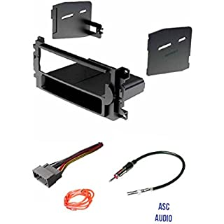 Discount ASC Audio Car Stereo Radio Install Dash Kit Wire Harness and Antenna Adapter to Add a Single Din Radio for some Chrysler Dodge Jeep without Factory Navigation- Vehicles listed below