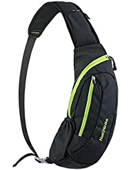 Tom Clovers Waterproof Nylon Outdoor Sports Casual Business Unbalance Backpack Crossbody Sling Bag Shoulder Bag...
