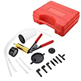 Aramox Brake Breeder, Car Motorcycle Brake Breeder Vacuum Pump Vacuum Tester Brake Bleeding Tool Kit