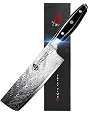 TUO Nakiri Knife - 6.5 inch Vegetable Cleaver Knife High Carbon Stainless Steel - Japanese Kitchen Knives with G10 Full Tang Handle - Black Hawk-S Knives Including Gift Box