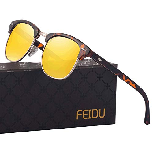 FEIDU Retro Polarized Mens