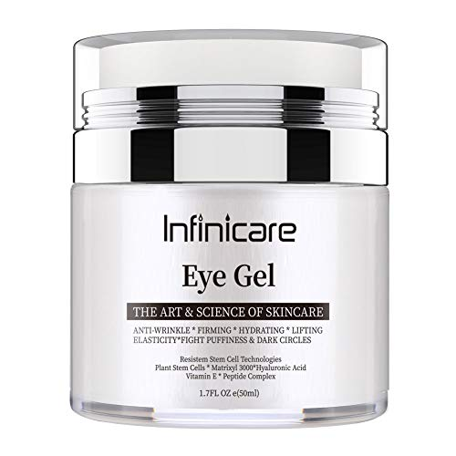 Infinicare Eye Gel for Dark Circles and Puffiness, | Wrinkles and Fine Lines, | Anti-aging Bags, Under Eye Cream Treatment - 1.7 fl oz