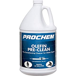 Prochem Olefin Pre-Clean, Professional Pre Spray for Olefin Carpets, Concentrate, 1 Gal, 4Pk