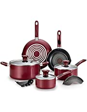 T-fal B037SE64 B037SE Excite ProGlide Nonstick Thermo-Spot Heat Indicator Dishwasher Oven Safe Cookware Set
