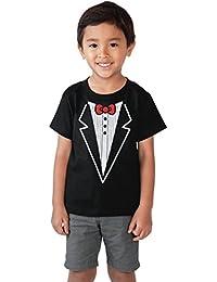 Tuxedo T-shirt Boys Costume Faux Tux Print Child Toddler Ages 2-4