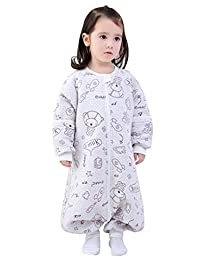 Baby Sleepsuit Sleepsacks, Hypoallergenic Antibacterial Baby Sleeper 100% Cotton Warm Suit Gray XL