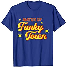 Mayor of Funky Town T-Shirt Vintage Disco 70s Retro Funk Tee